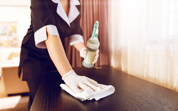 Stay in Properly Cleaned Guest Rooms