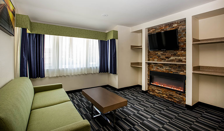 fireplace king suite at monterey downtown california
